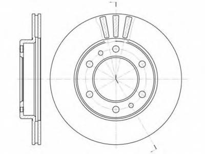 Диски тормозные вентилируемые 6x139,7 доработанные - BD6X139.7-300-100