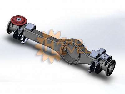 Кронштейн установки мостов Volvo C303 (Laplander) на Landrover Defender в разборе - HL-DEF-1610