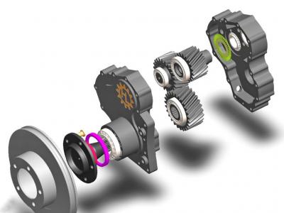 Бортовые (колесные) редуктора - HL-BR3XL-XXX