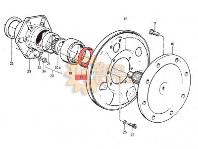 Обойма (кольцо) внешнего сальника бортового редуктора C303 - HL-LAP-5110