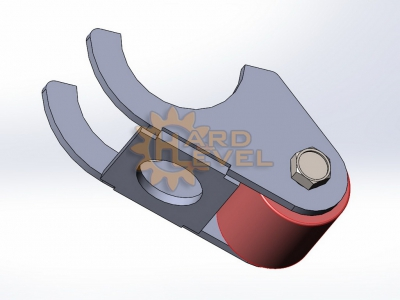 Комплект кронштейнов установки заднего редукторного моста УАЗ на пружины - HL-469-2610