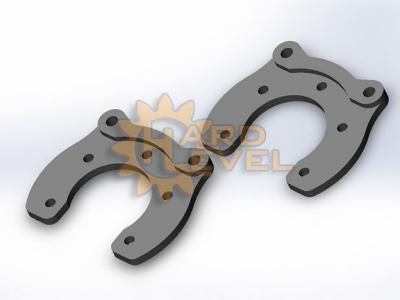 Установочный комплект задних дисковых тормозов на автомобили УАЗ, мосты тимкен / спайсер, под суппорт УАЗ - HL-3151-2110