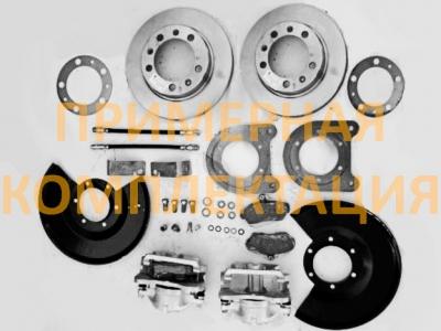 Полный комплект дисковых тормозов на автомобили УАЗ, редукторные мосты, под суппорт ГАЗ - HL-469-1210П