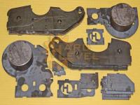 Кронштейн для установки переднего военмоста на УАЗ Хантер (Симбир, Патриот) HL-469-1616 с верхним расположением продольных тяг в разборе