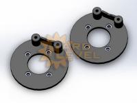 Установочный комплект задних дисковых тормозов на автомобили ГАЗ